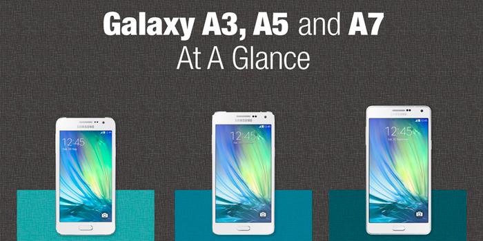 Galaxy А3, А5 и А7