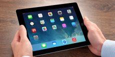 New operating system IOS 7 screen on iPad Apple
