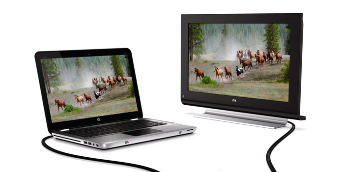 как вывести изображение с ноутбука на телевизор