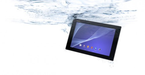 планшет Sony Xperia Tablet Z2 под водой