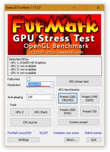 программа FurMark