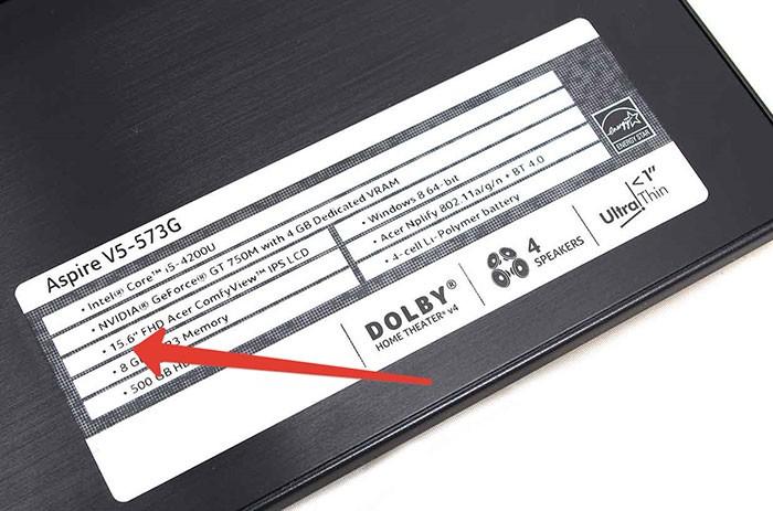 наклейка на ноутбуке