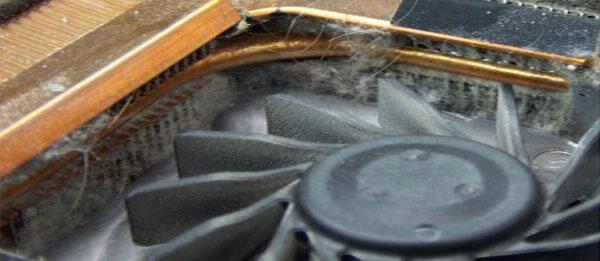 забитый пылью радиатор