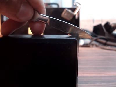 обработка шва ножом