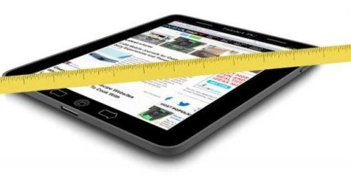 Размеры экрана планшета